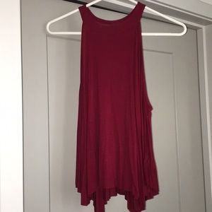 Dark red tank top from free people